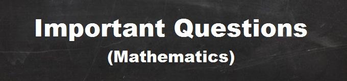 important questions mathematics